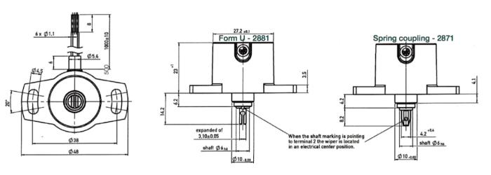capteur de position rotatif euro-xp corp plastic