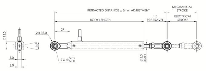 dimensions capteur de position lineaire variohm VLP