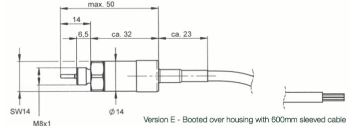 Dimensions capteur de pression et température EPTTE1400