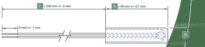 dimensions capteur de temperature etp pp