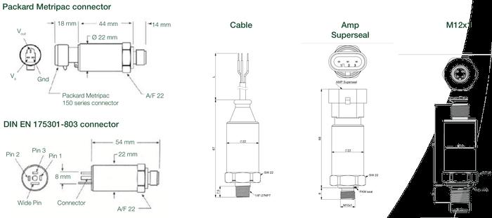 dimensions et connecteurs ept9100
