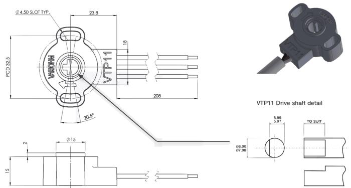 vtp11 capteur deplacement rotatif 90°