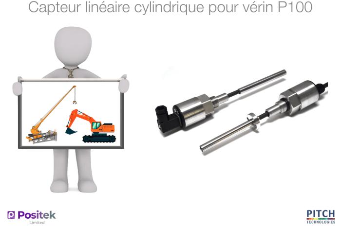 Capteur linéaire cylindrique pour vérin P100