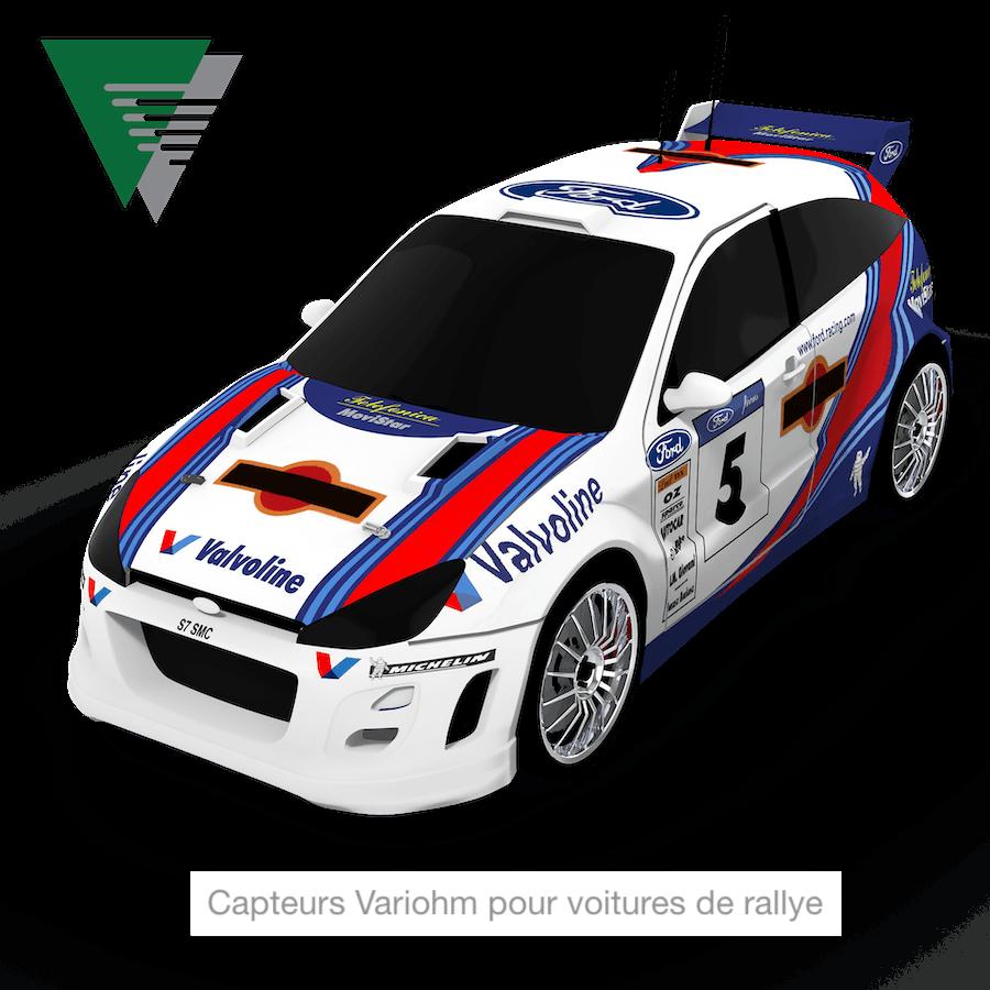capteurs pour voitures rallye