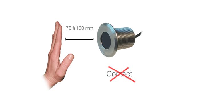 Capteur contacteur infrarouge détection sans contact