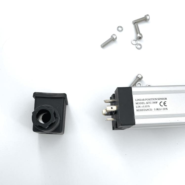 potentiometre lineaire connecteur DIN bride de fixation KTC-300-P